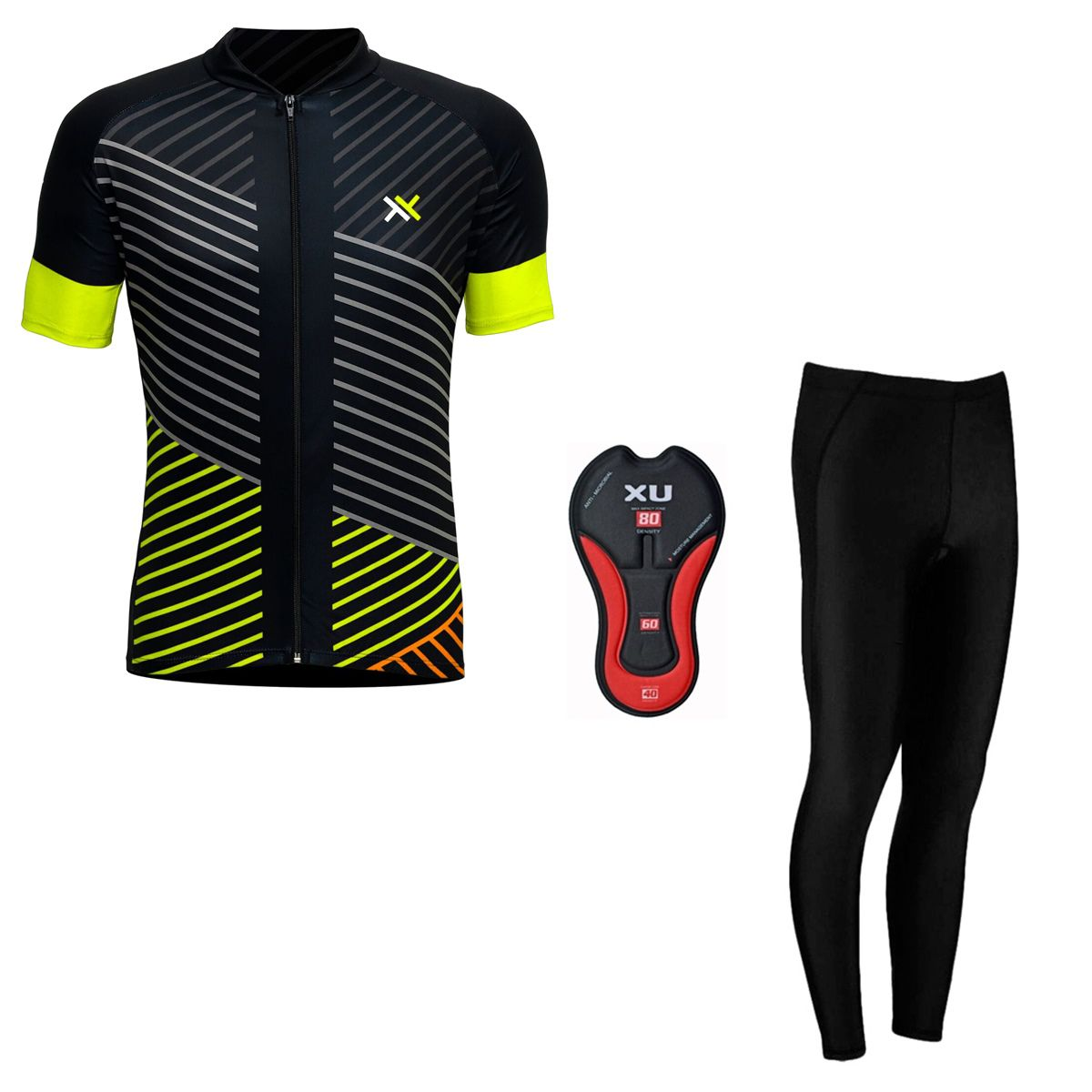Conjunto Mattos Lines Calça Camisa Amarelo Ciclismo