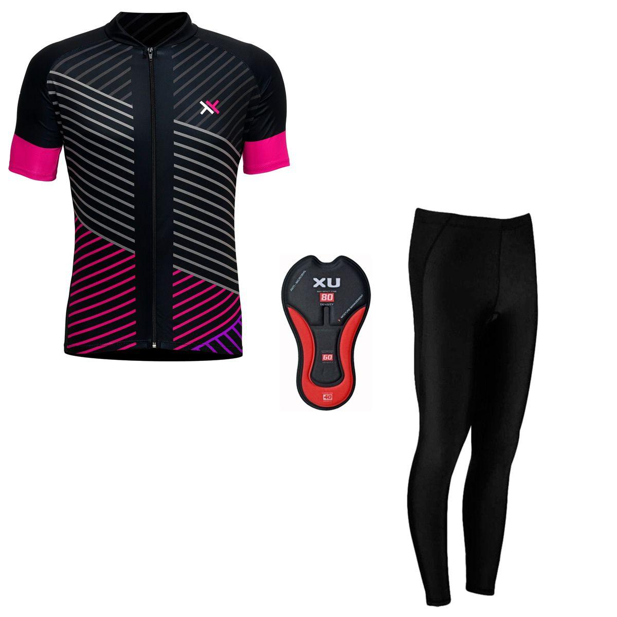 Conjunto Mattos Lines Feminino Calça Camisa Ciclismo