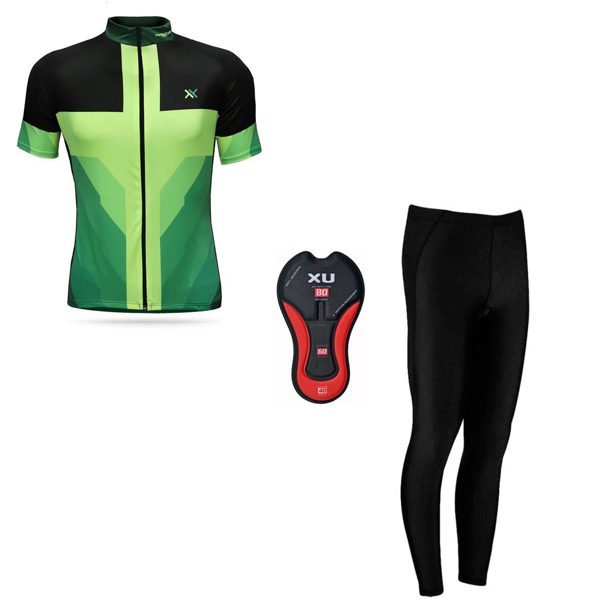 Conjunto Mattos Sprint Calça Camisa Amarelo Ciclismo