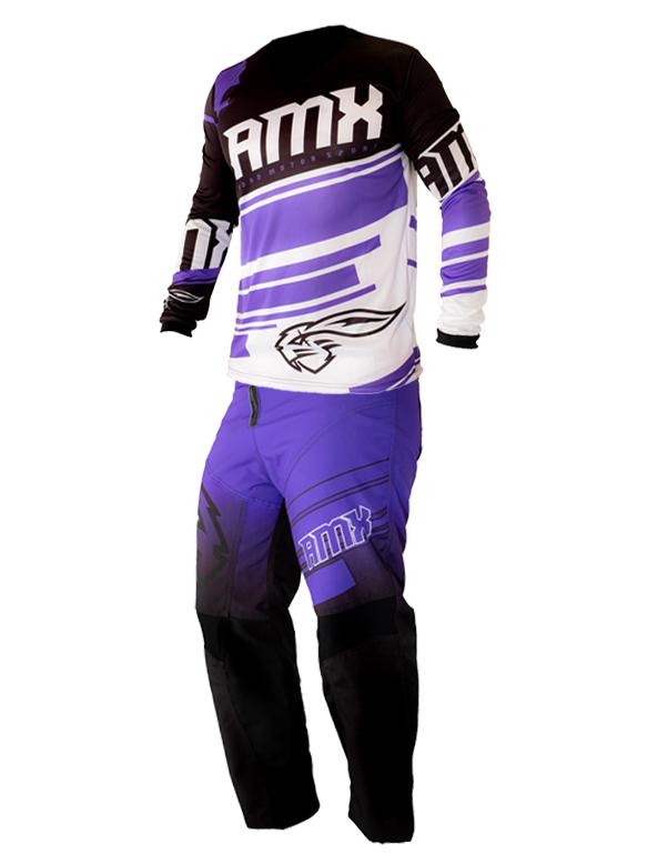 Conjunto Roupa Amx Calça Camisa Classic Roxo Preto