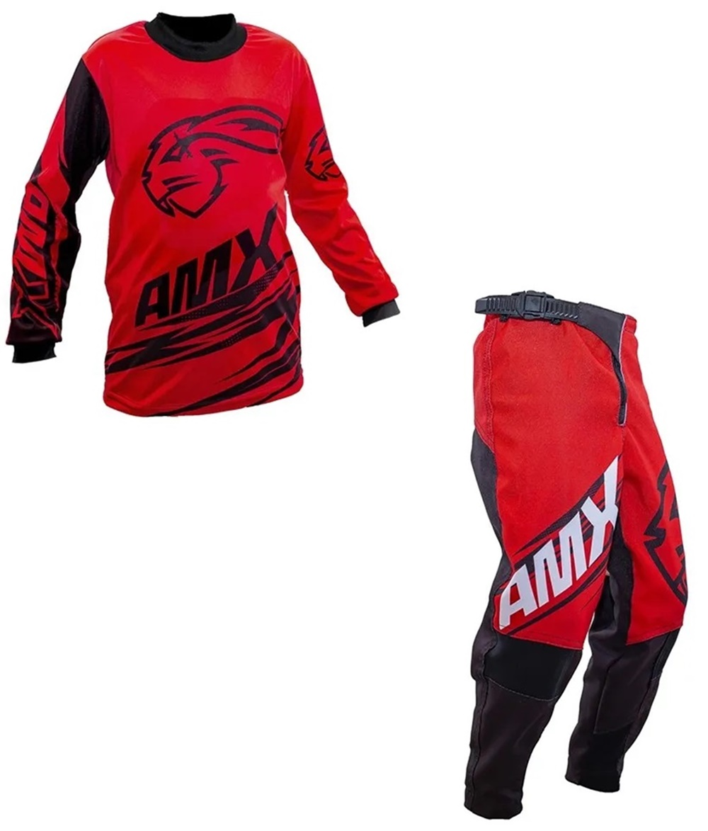 Conjunto Roupa Amx Classic Duo Infantil Trilha Motocross