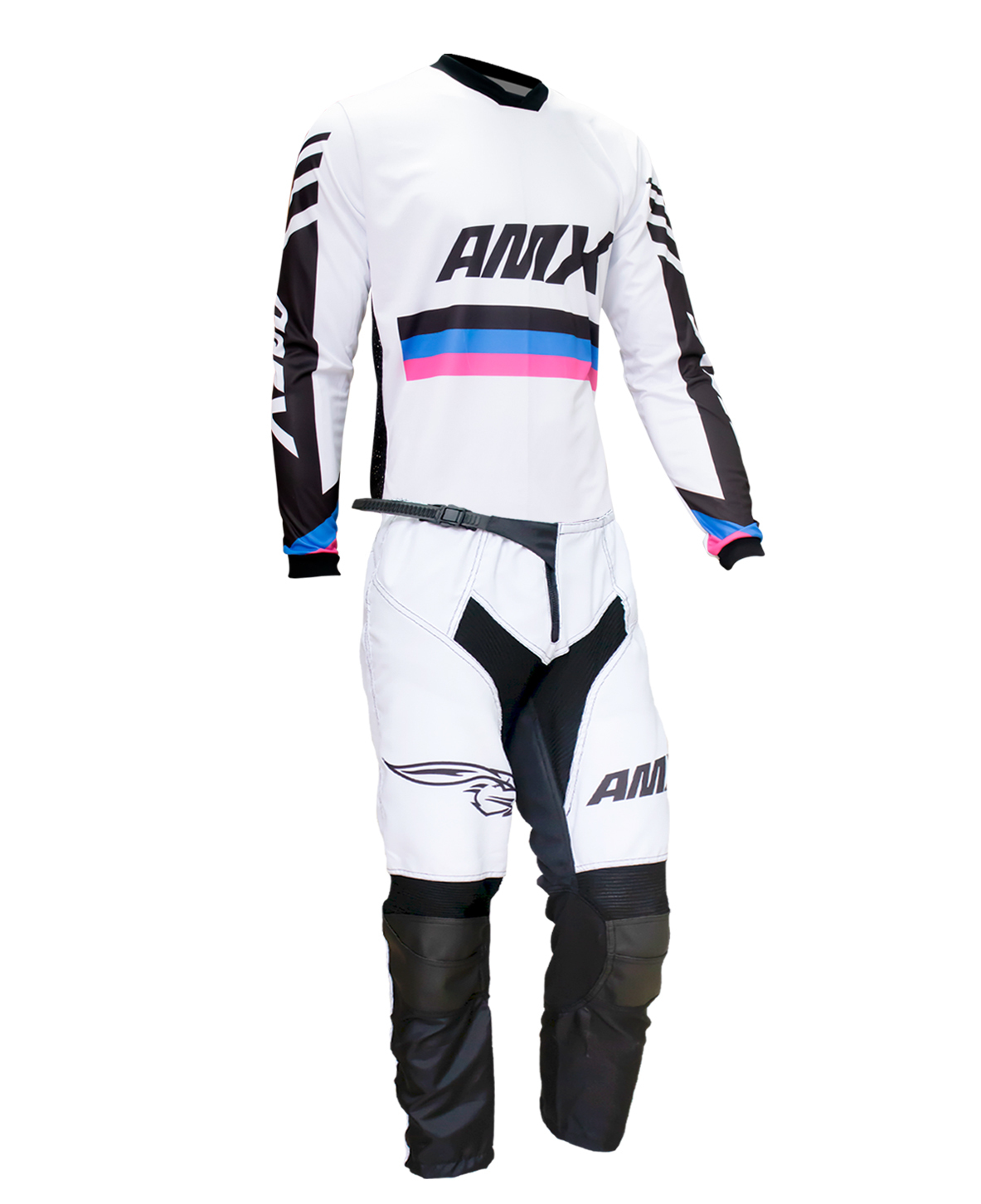 Conjunto Roupa Amx Cross One Branco Calça Camisa Trilha Motocross