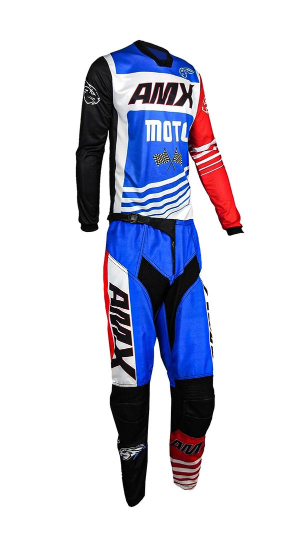 Conjunto Roupa Amx Prime Moto Calça Camisa Trilha Motocross