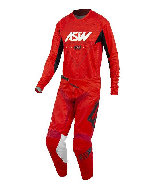 Conjunto Roupa Asw Calça Camisa Podium Vertice 21 Vermelho Branco