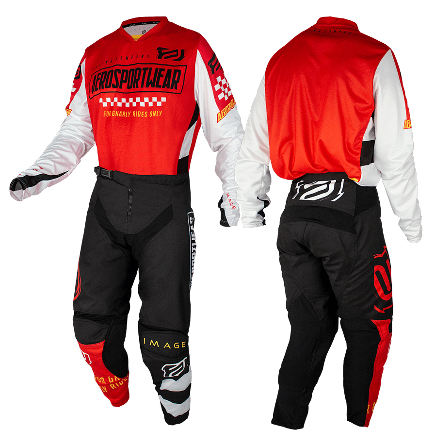 Conjunto Roupa Asw Image Knight Calça Camisa Vermelho