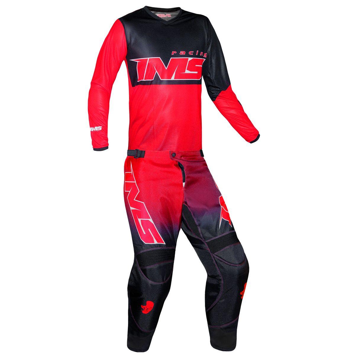 Conjunto Roupa Calça Camisa Ims Army Vermelho