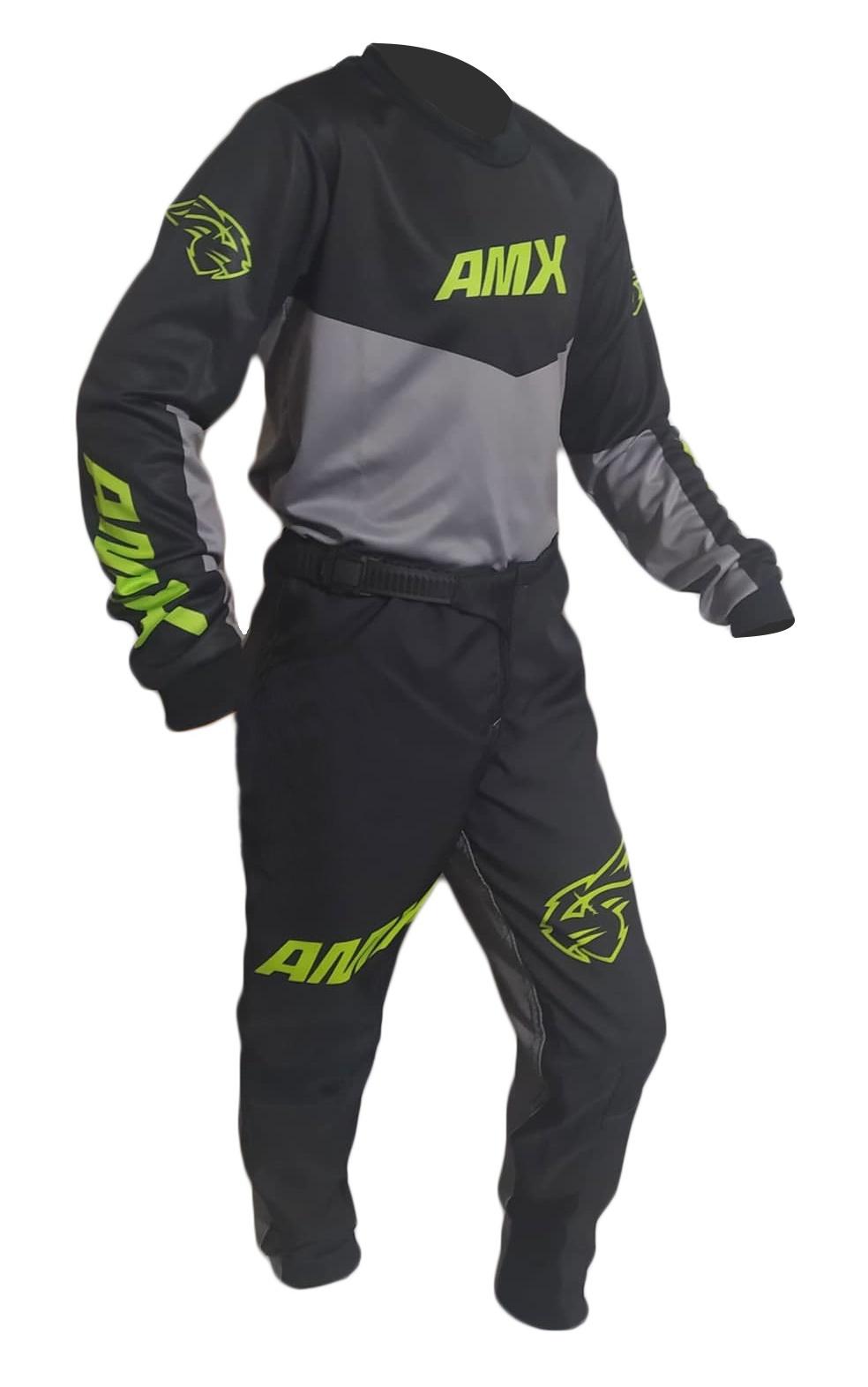 Conjunto Roupa Infantil Amx Prime Camisa Calça Cross Trilha Motocross