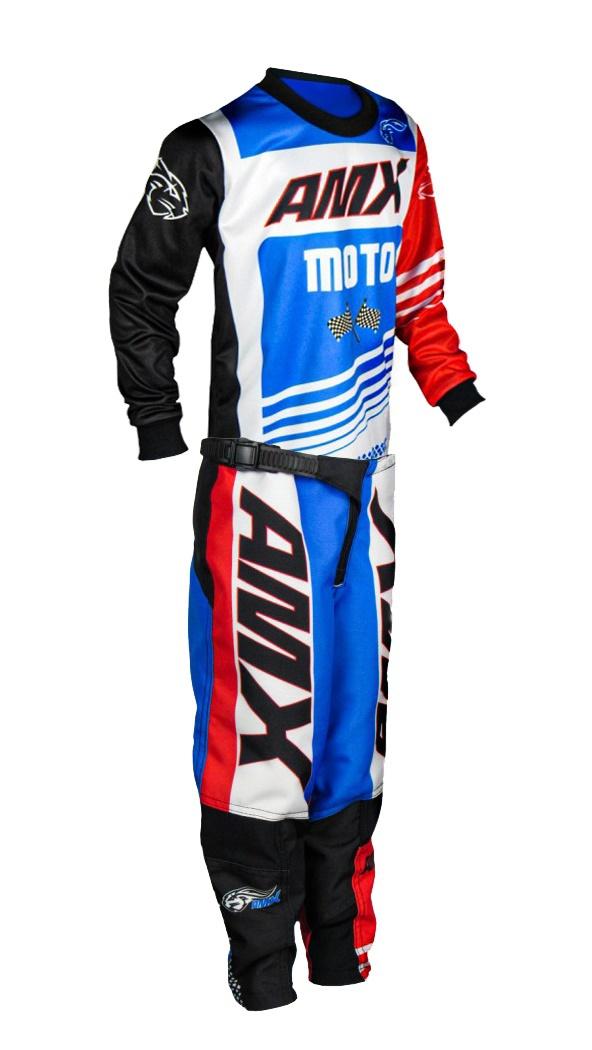 Conjunto Roupa Infantil Amx Prime Moto Camisa Calça Cross Trilha