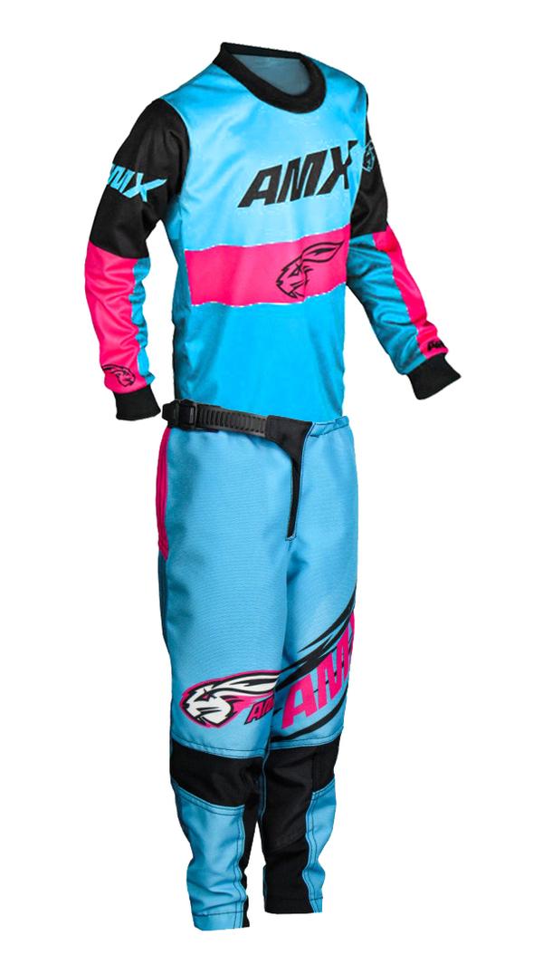 Conjunto Roupa Infantil Amx Prime Race Camisa Calça Cross Trilha