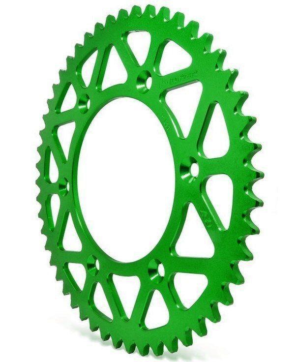 Coroa Aço Biker Kawasaki Verde Klx 125 450 Kx Kxf 250 450 49 á 52 dentes