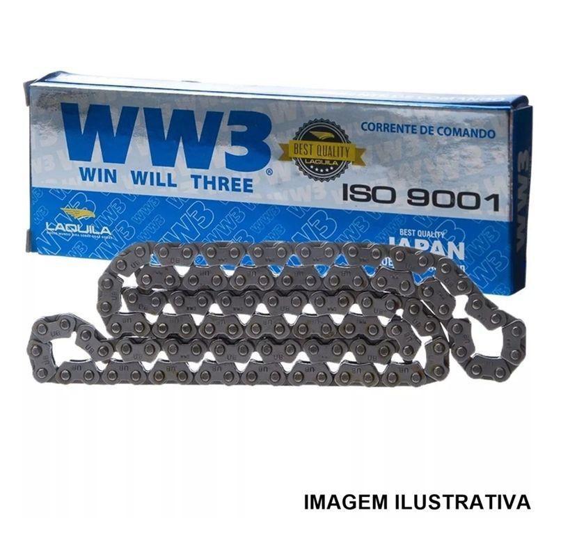 Corrente Comando Ww3  98 Elos Cg 160 Bros 160