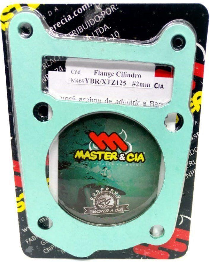 Flange Calço Cilindro P/ Pino Cursado Master Cia Xtz 125 Ybr 125 Ttr 125