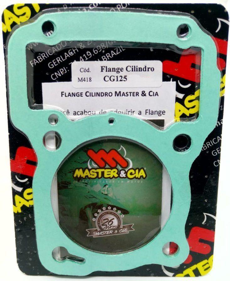 Flange Calço Cilindro P/ Pino Cursado 2mm 3mm Cg 125 Fan Nxr Bros 125 Master Cia