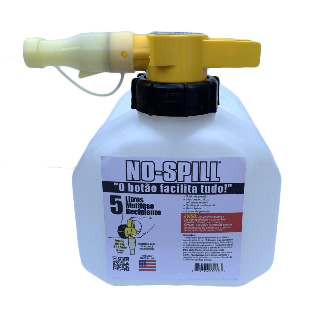 Galão Combustível Lupus 5 Litros Abastecimento Gasolina Diesel Etanol