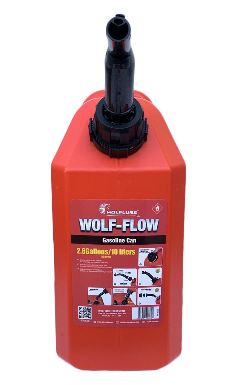 Galão Combustível Lupus Wolf-Flow 10 Litros Abastecimento Motos Trilha Motocross Enduro