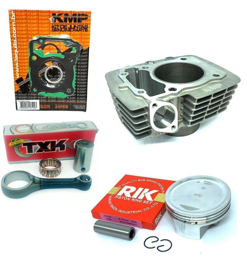 Kit Competição Kmp Premium Completo Cg 125 2009/ Para 220cc Com Biela Txk