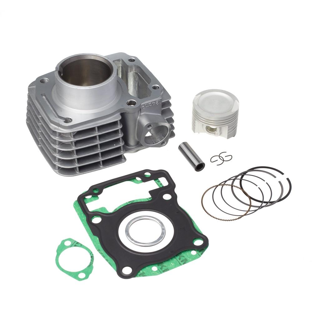 Kit Completo Kmp Premium Cg Titan 150 P/ 220cc Cilindro Pistão Biela Txk Junta