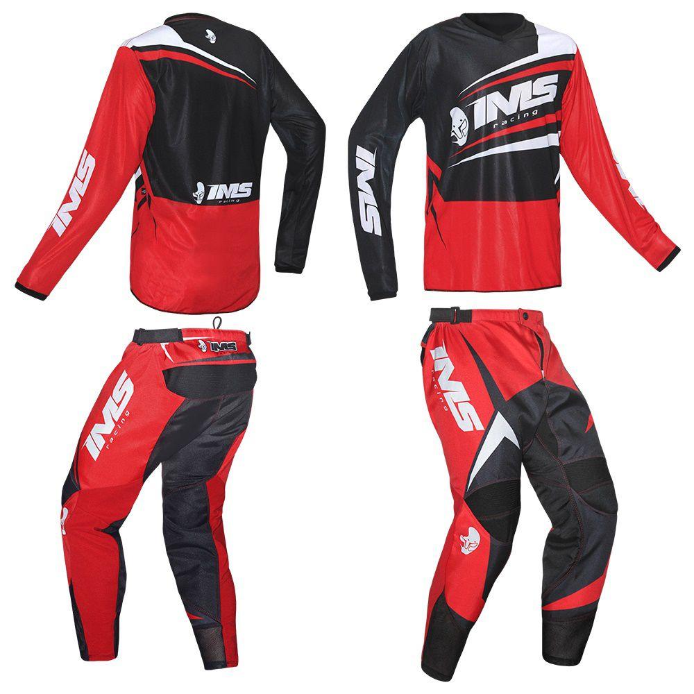 Kit Conjunto Ims Flex Calça e Camisa Motocross Trilha Enduro