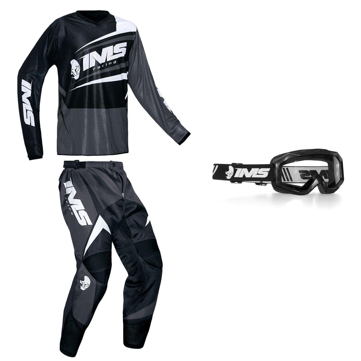 Kit Conjunto Roupa Ims Flex Calça Camisa Óculos Trilha Motocross