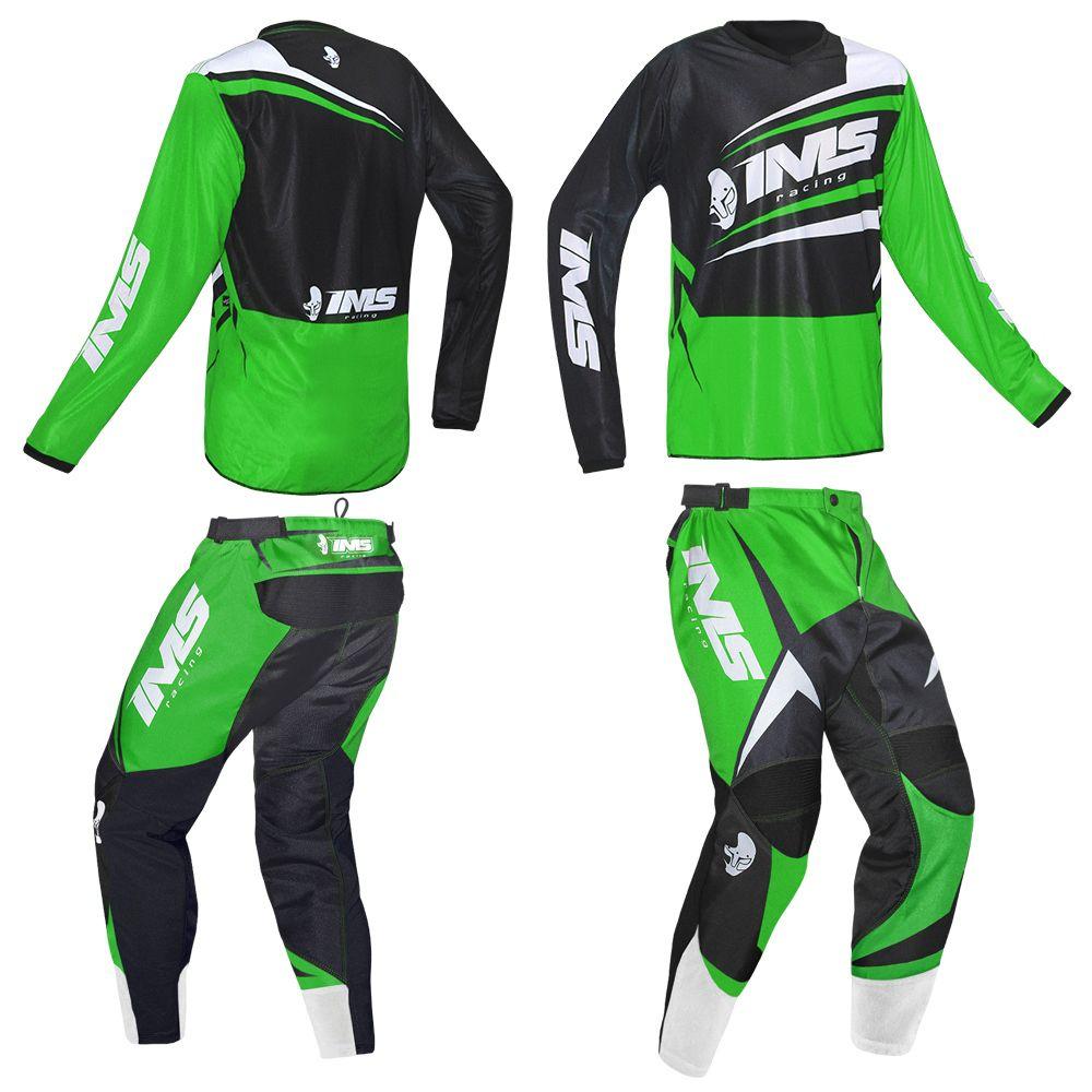 Kit Conjunto Roupa Ims Flex Calça e Camisa Verde