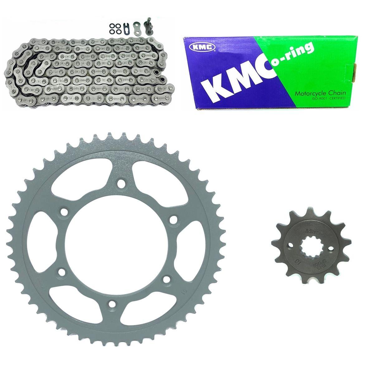 Kit Coroa e Pinhão Maxx Premium Corrente Kmc Com Retentor Crf 230 50x13