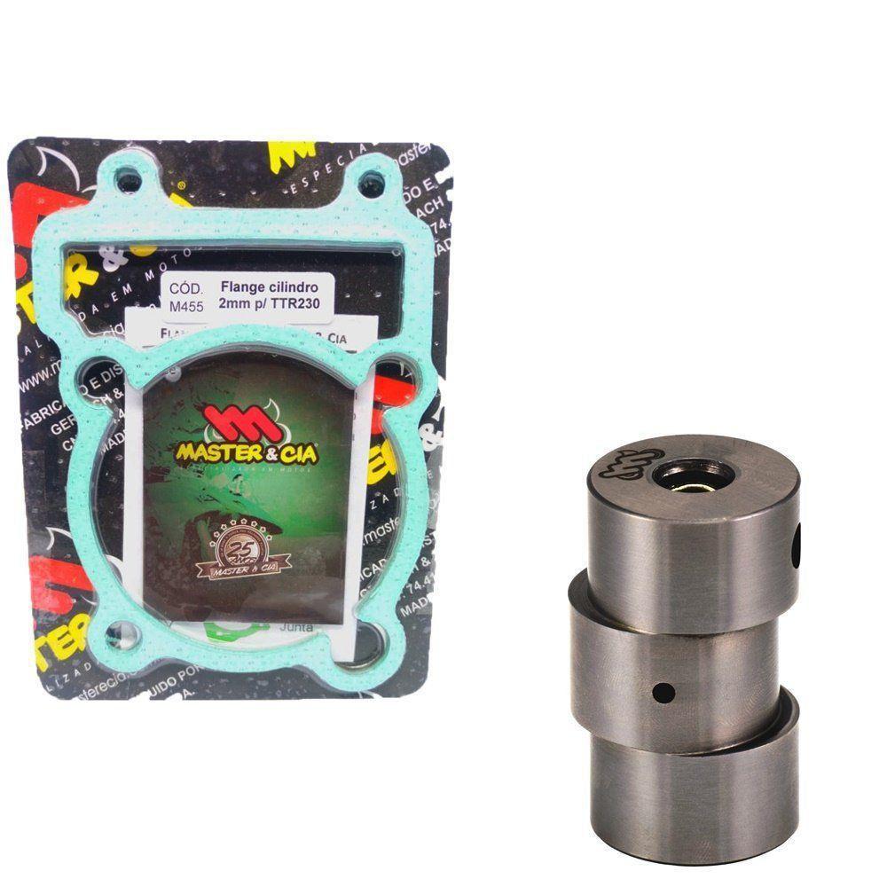 Kit Pino Cursado 2mm Master Cia Com Flange e Juntas Cilindro Ttr 230 Xt 225 Tdm 225