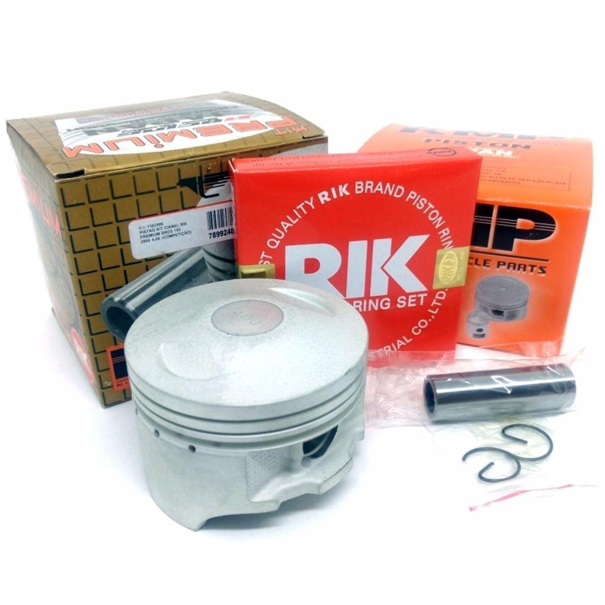 Kit Pistão Kmp Premium Anéis Rik Nxr Bros 150 Ohc 2003 á 2005 Std Á 4.00mm