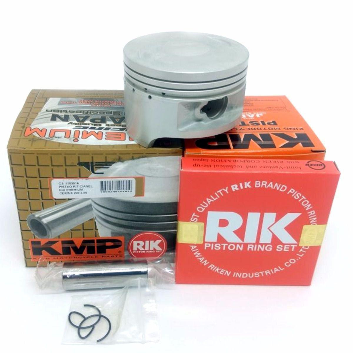 Kit Pistão Kmp Premium Anéis Rik Xr 200 Cbx 200 Nx 200 Std Á 2.00mm