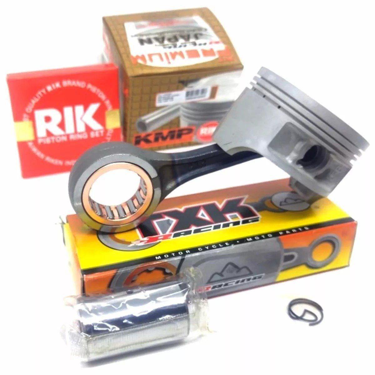 Kit Pistão Xt 225 Kmp Premium Std á 2.00mm Com Biela Txk Pino 16mm Para Cg 150