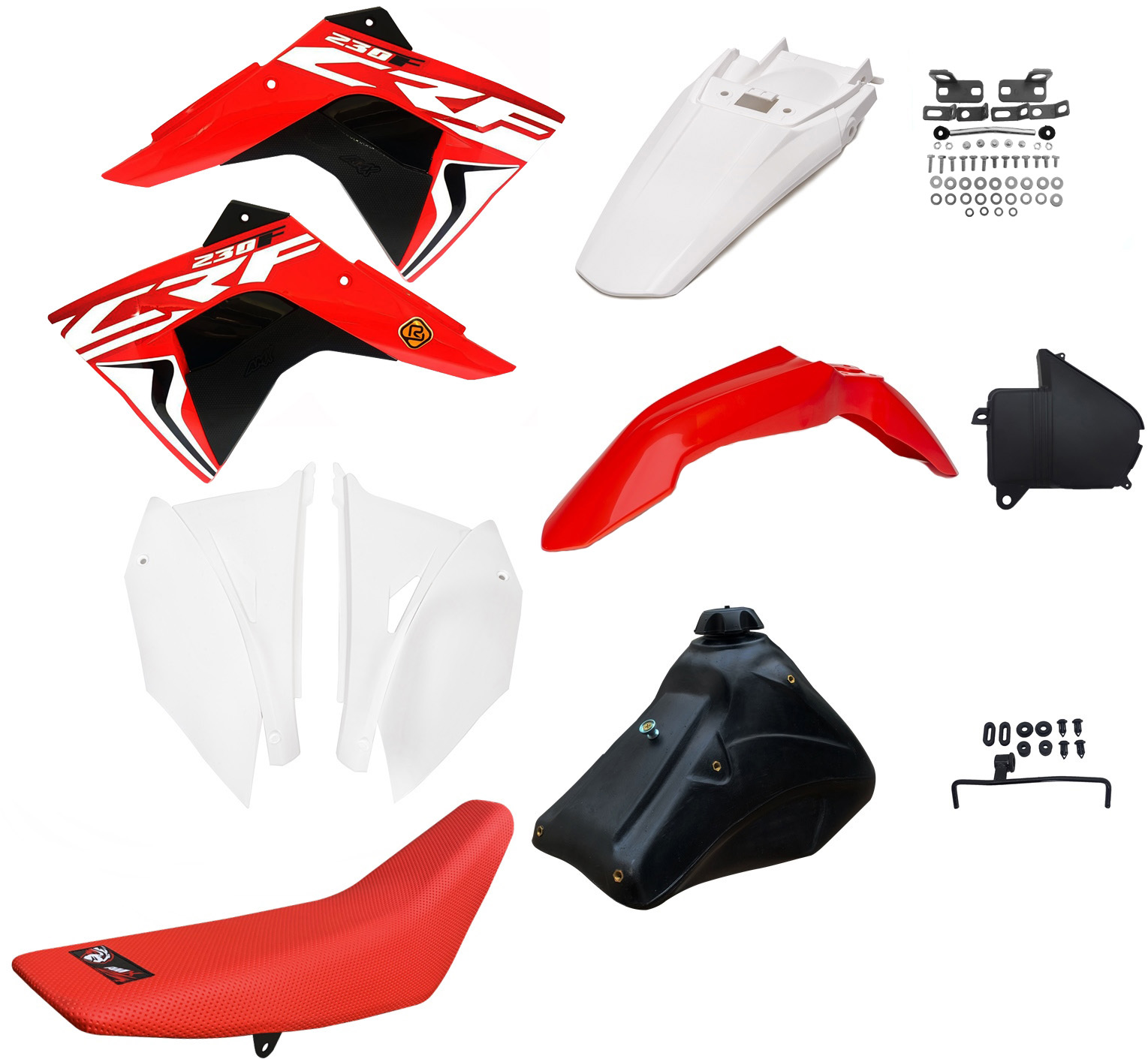 Kit Plástico Amx Adaptável C/ Adesivo Crf 230 P/ Xr 200/250 Bros 125/150