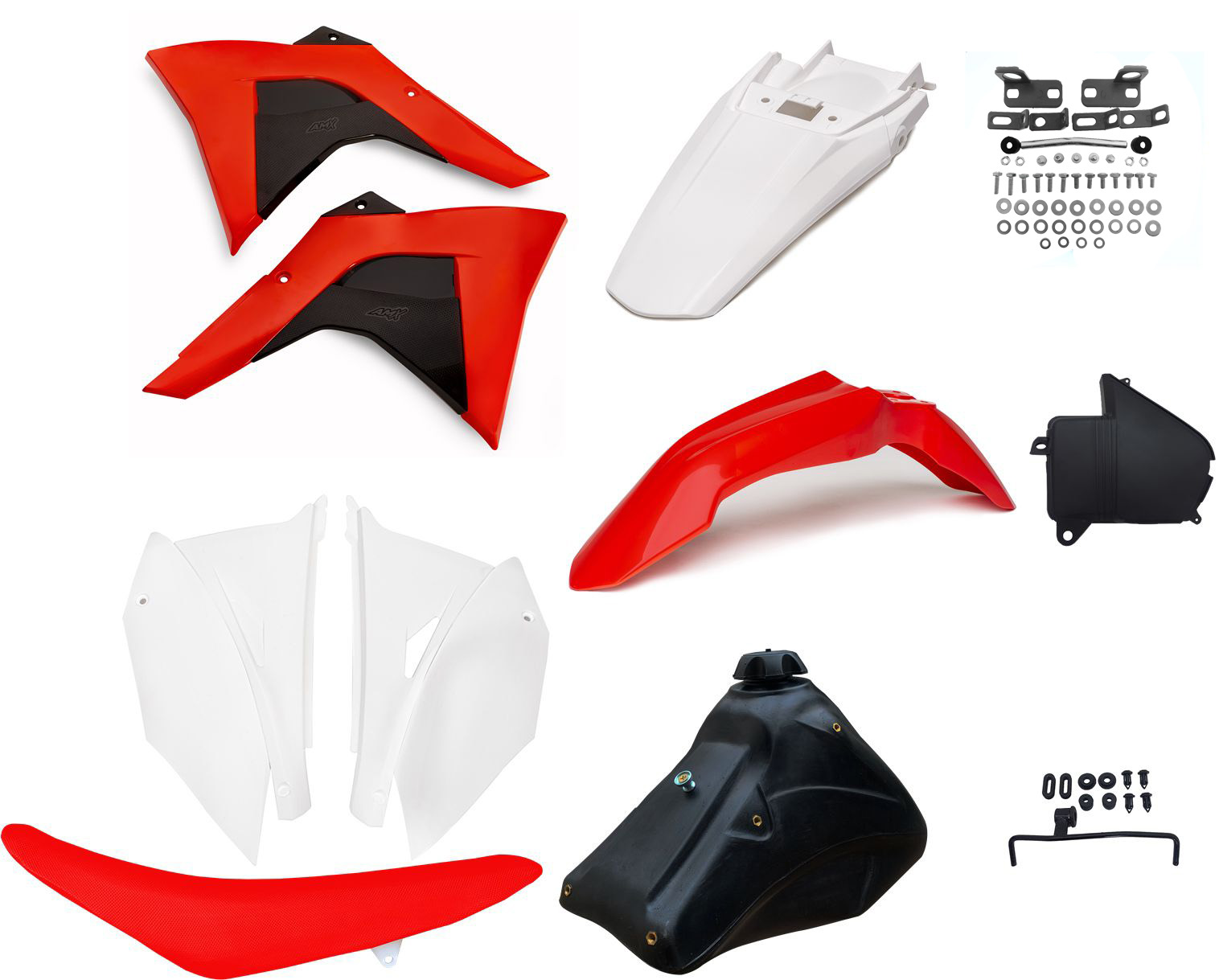 Kit Plástico Amx Adaptável Completo Crf 230 P/ Xr 200 Xr 250
