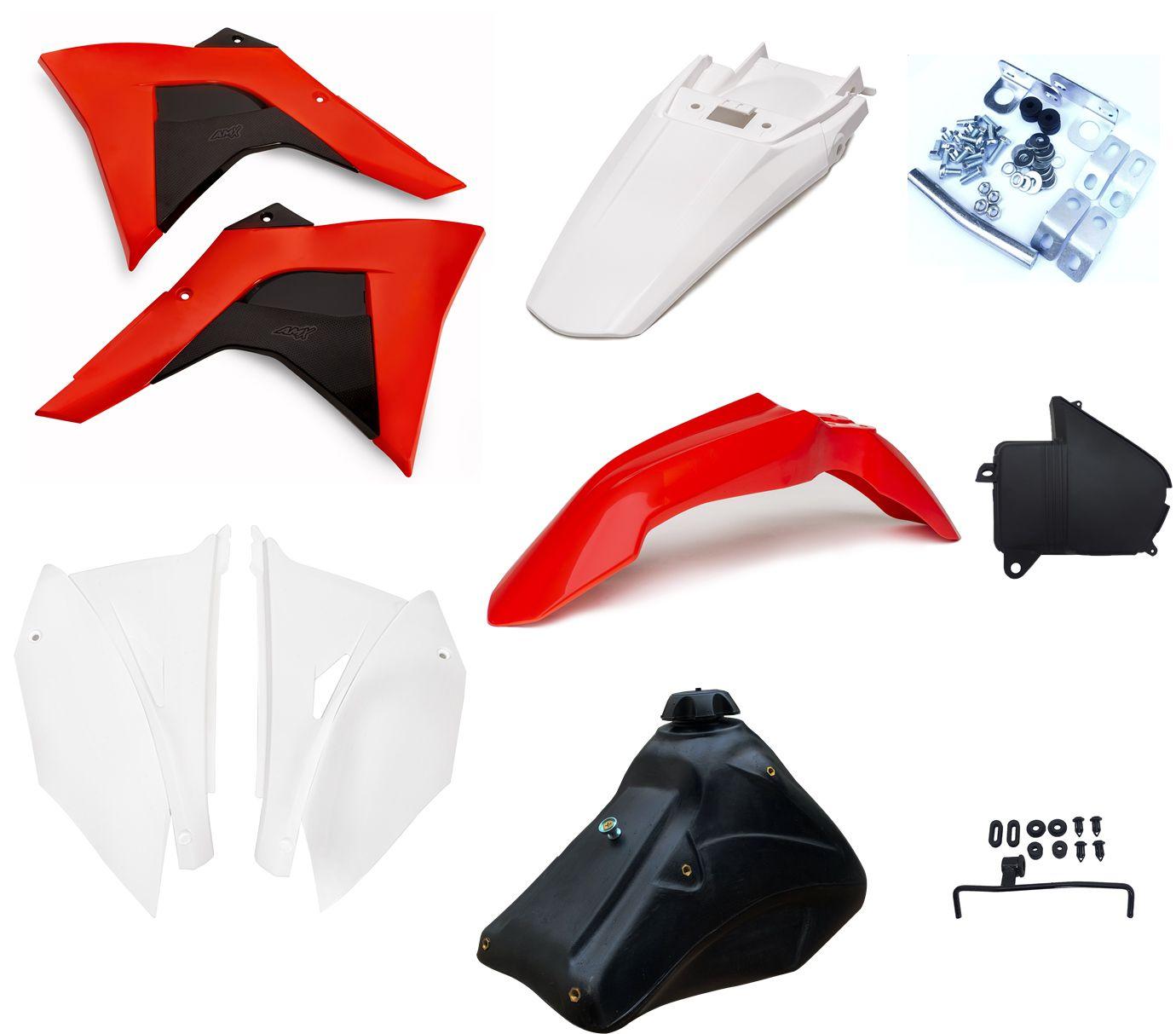 Kit Plástico Amx Adaptável Crf 230 P/ Xr 200 Xr 250 Tornado