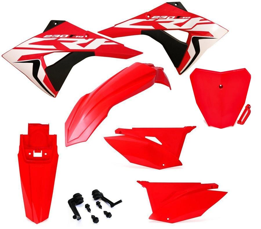 Kit Plástico Biker Elite Adesivos c/ Number Plate Next Crf 230