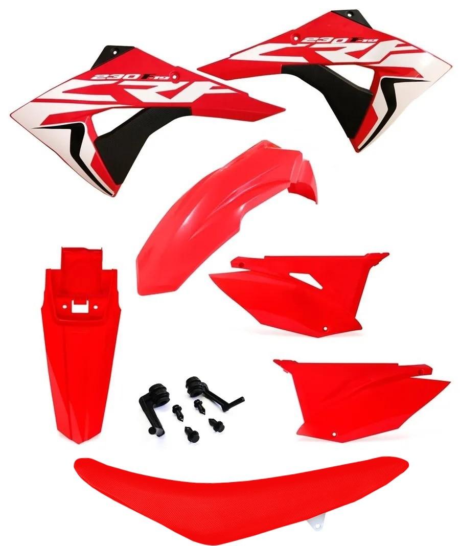 Kit Plástico Biker Next Crf 230 Adesivos E Banco Avtec