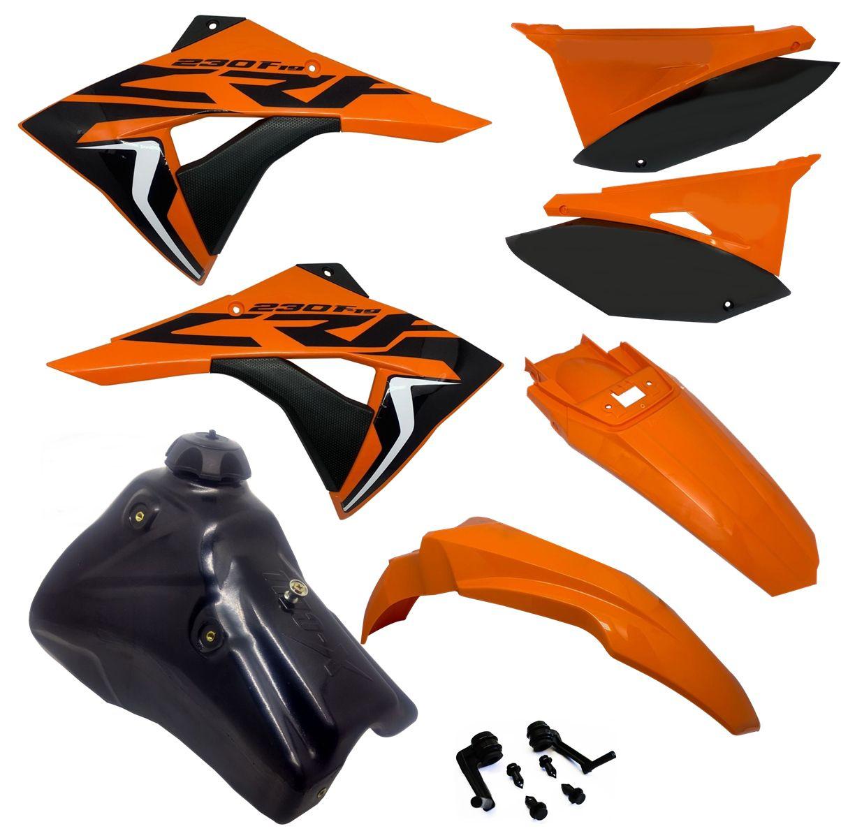 Kit Plástico Biker Next Crf 230 2007 P/ 2020 Adesivos e Tanque