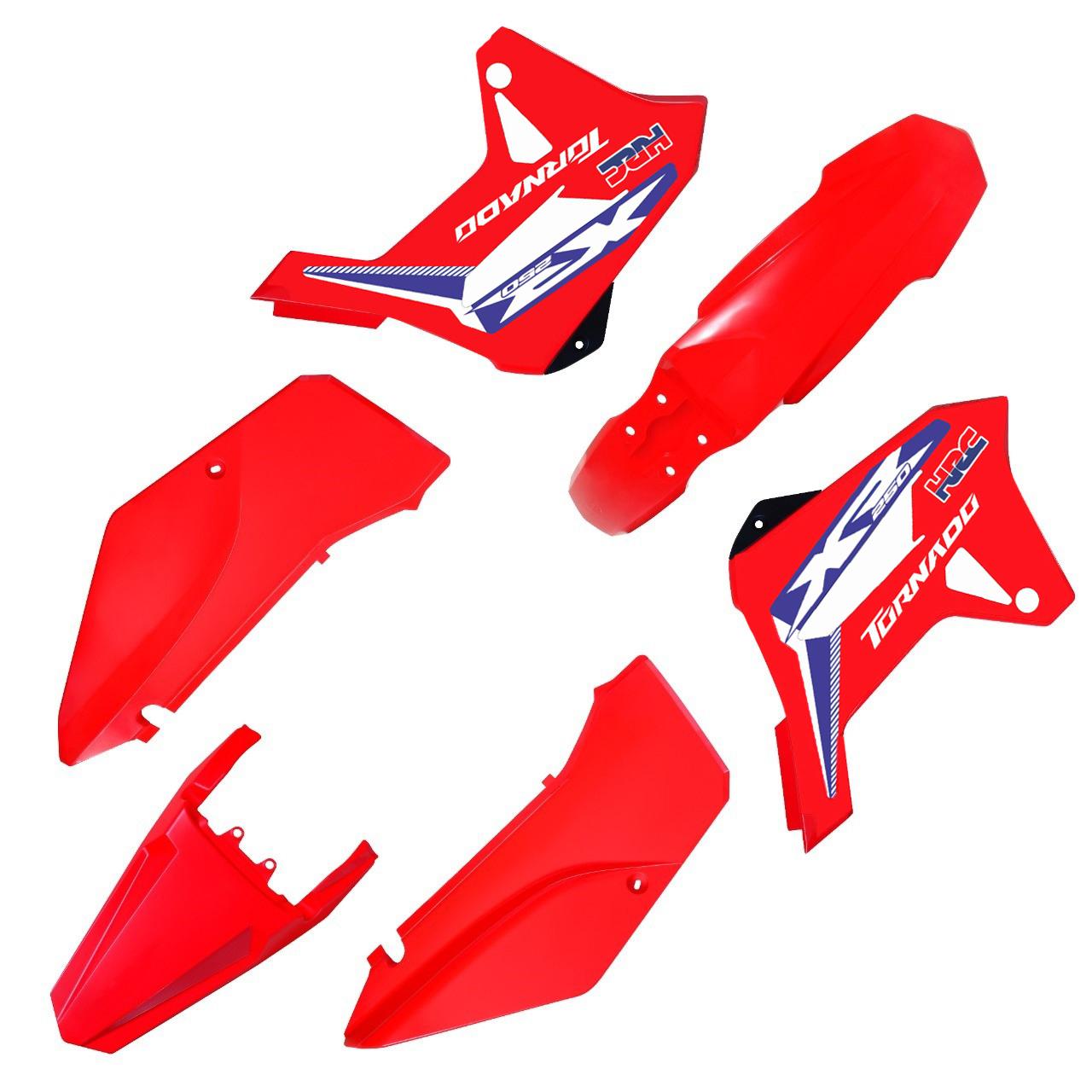 Kit Plástico Carenagem Biker R1de C/ Adesivos Xr 250 Tornado