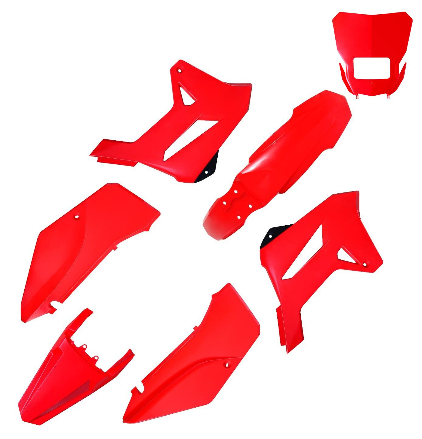 Kit Plástico Carenagem Biker R1de C/ Carenagem Farol Xr 250 Tornado