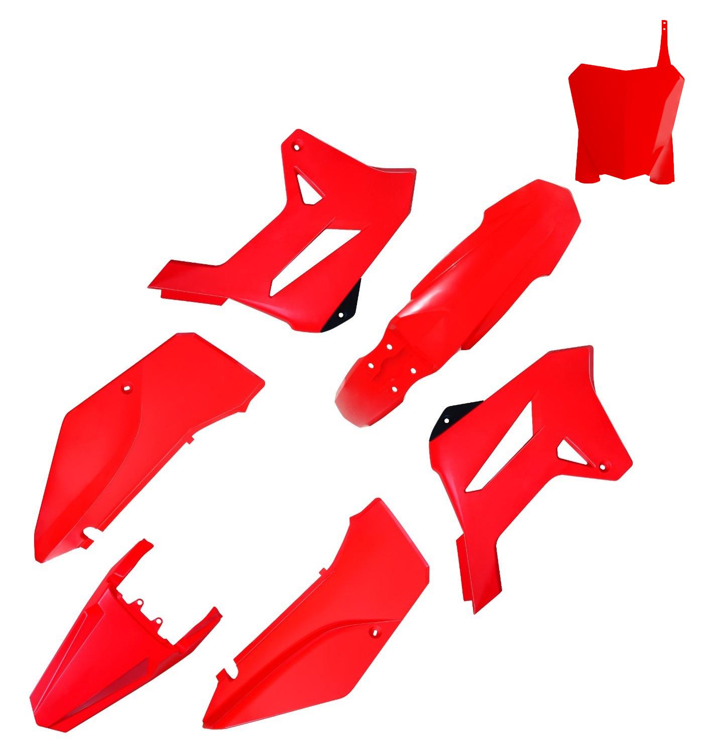 Kit Plástico Carenagem Biker R1de C/ Number Plate First Xr 250 Tornado