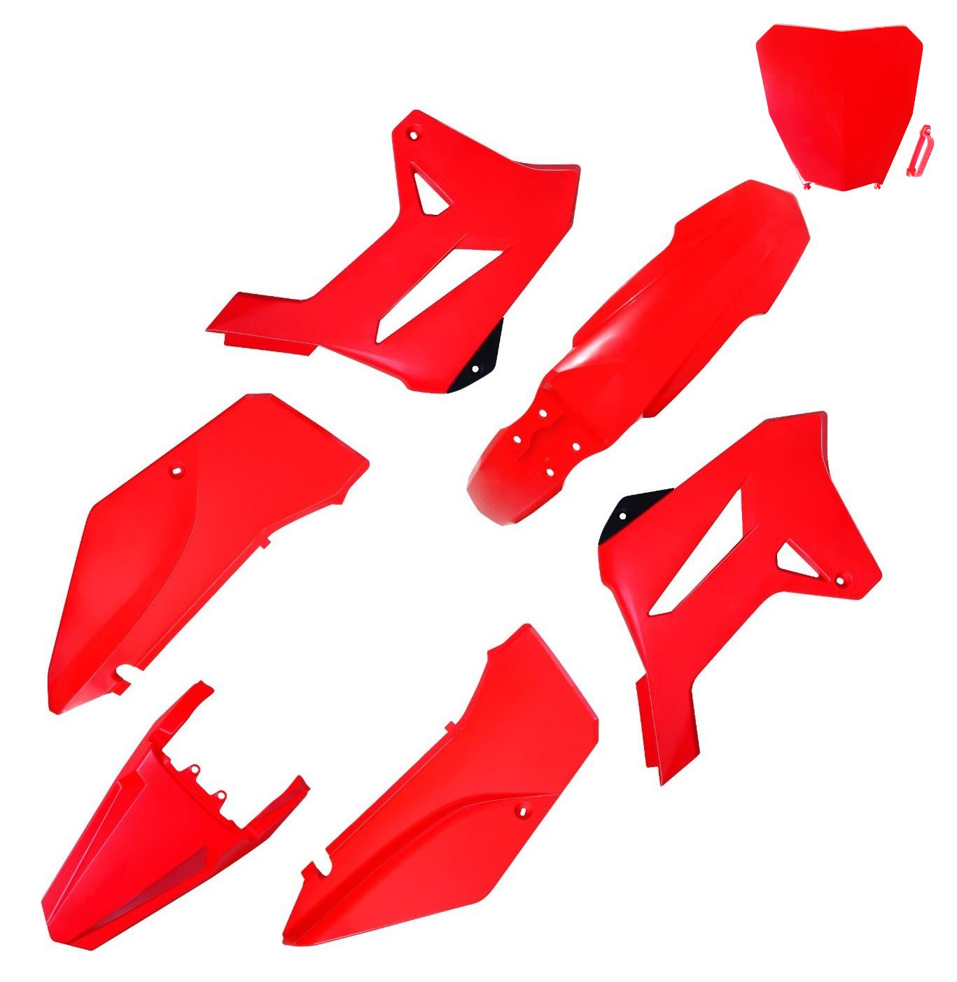 Kit Plástico Carenagem Biker R1de C/ Number Plate Next Xr 250 Tornado