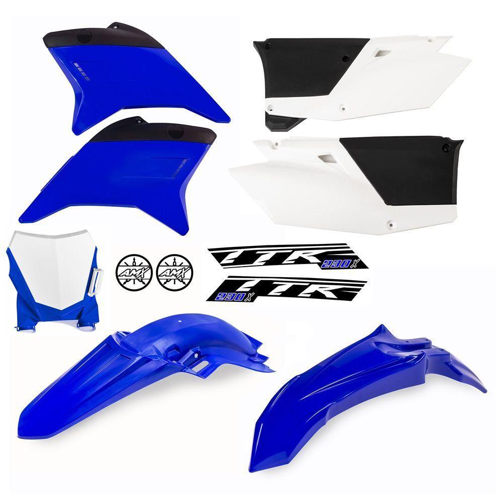 Kit Plástico Completo Amx Ttr 230 Com Number Plate