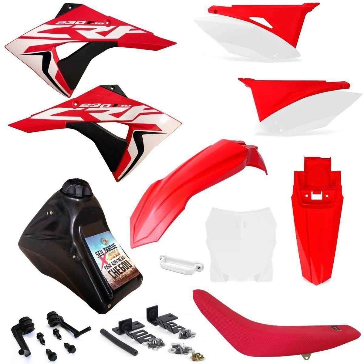 Kit Plástico Completo Crf 230 Adaptável Xr 250 Tornado Xr 200 Number