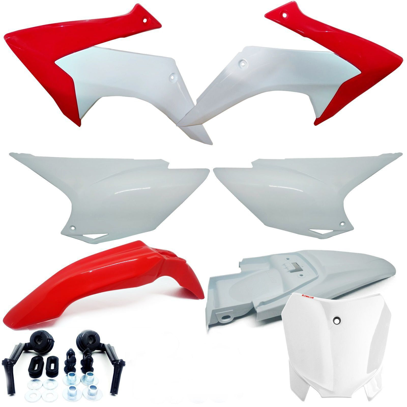 Kit Plástico Crf 230 Carenagem Com Number Plate Avtec
