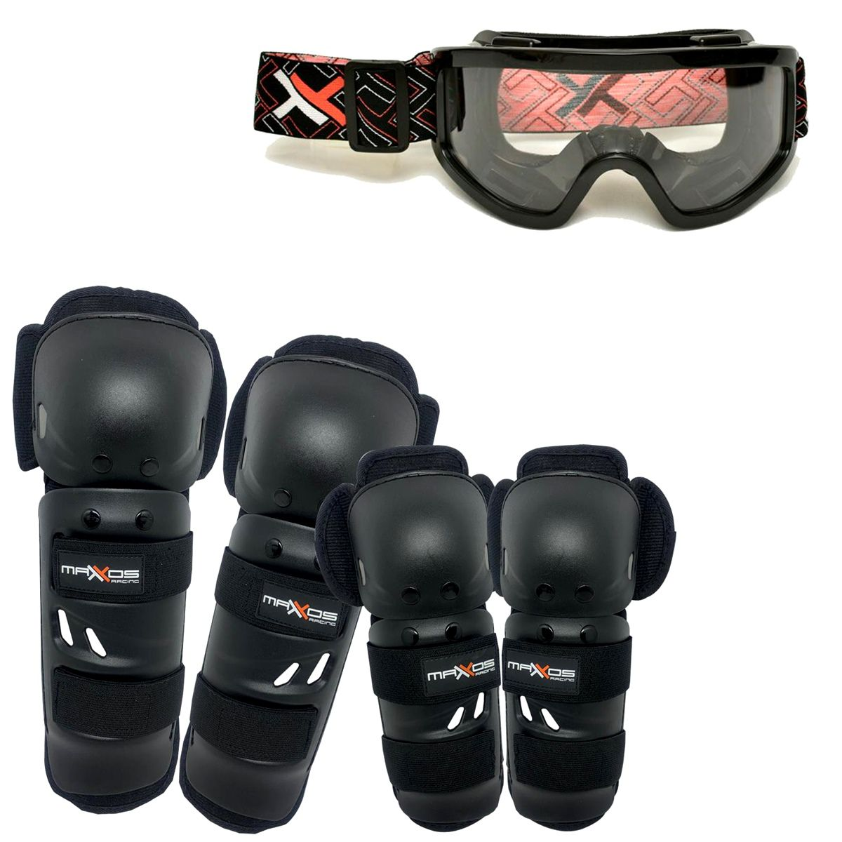 Kit Proteção Mattos Joelheira e Cotoveleira Com Óculos