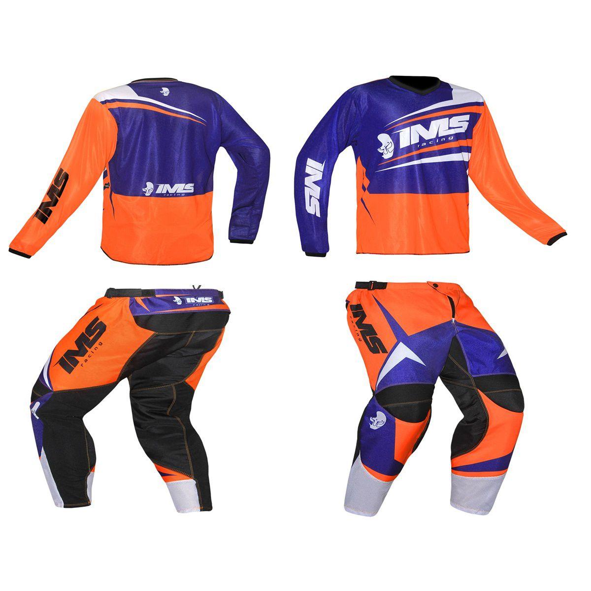 Kit Roupa Ims Infantil Flex Calça e Camisa Motocross Trilha