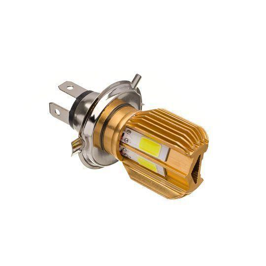 Lampada Farol Led Lacflex Com Dissipador De Calor H4 1500 Lumens 2500 Kelvin_x000D_