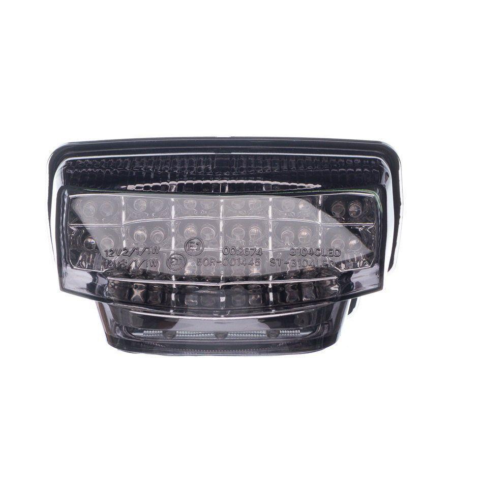 Lanterna Traseiro Moto X Led C/Piscas Laterais Integrado Cbr 600Rr 10...