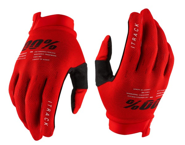 Luva 100% iTrack Gloves 2021 Vermelho