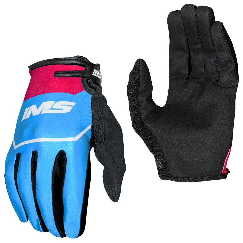Luva Ims Power Motocross Trilha Azul Vermelho