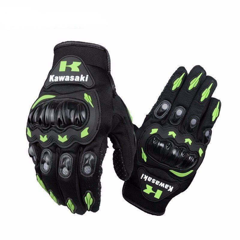 Luva Kawasaki Com Proteção Mãos Motocross Trilha