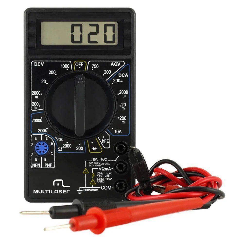 Multímetro De Voltagem Digital Multilaser 9V
